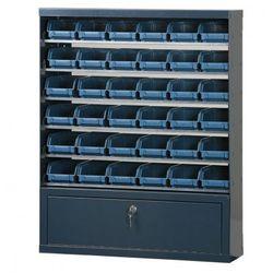 Szafki z plastikowymi pojemnikami i szufladą, 36 boksów (8010693045006)