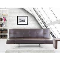 Rozkładana sofa kolor brązowy ruchome podłokietniki BRISTOL