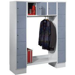 Garderoba systemowa, otwarta,wys. x szer. całk.: 1850 x 1500 mm, 13 półek