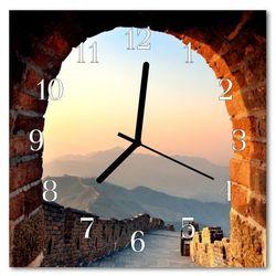Zegar szklany kwadratowy Wielki mur chiński