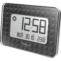 Zegar ścienny cyfrowy  jw 208 black sterowany radiowo, (dxsxw) 30 x 246 x 173 mm marki Oregon scientific