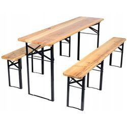 Meble ogrodowe drewniane składane zestaw piwny 180cm marki Tm