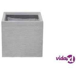 Doniczka biała kwadratowa 30 x 30 x 28 cm PAROS