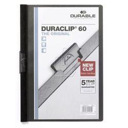 Skoroszyt zaciskowy Durable Duraclip 60 kartek 5 szt. czarny 223801
