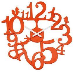Koziol  - zegar ścienny pi:p - pomarńczowo-czerwony - pomarańczowo-czerwony