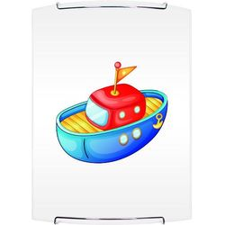 Lampa dla dziecka Łódka - kinkiet Boat biały/ chrom E27 60W (5902166902769)