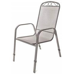 Happy green stalowe krzesło ogrodowe