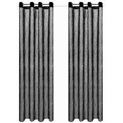Haftowane, przezierne zasłony, 2 szt., 140 x 225 cm, czarne marki Vidaxl