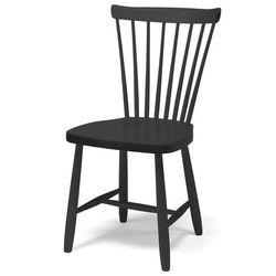Drewniane krzesło dla dzieci anna, 460 mm, czarny marki Aj produkty