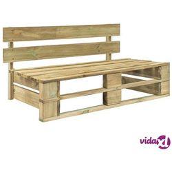 Vidaxl ogrodowa ławka z palet, drewno fsc, zielona