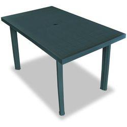 stół ogrodowy, 126 x 76 72 cm, plastik, zielony marki Vidaxl