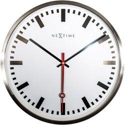 Zegar ścienny Super Station Stripe Nextime 55 cm