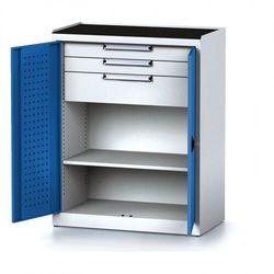 B2b partner Szafa warsztatowa mechanic, 1170 x 920 x 500 mm, 2 półki, 2 szuflady, niebieskie drzwi