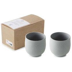 Kubek porcelanowy do espresso No.W 2x 80 ml szary
