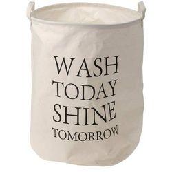 Płócienny worek, kosz na pranie,,Wash today...