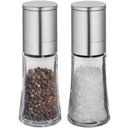 Młynki do przypraw, soli, pieprzu bari stal, szkło - 2 sztuki (ci-613445) marki Cilio