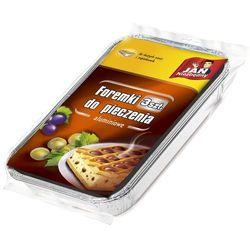 foremki aluminiowe do dużych ciast i zapiekanek 3 szt. marki Jan niezbędny