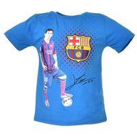 T-shirt z wizerunkiem piłkarza klubu FC Barcelona - Niebieski ||Kolorowy, kolor niebieski