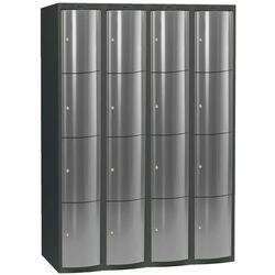 Ekskluzywne szafy osobiste 4x4 schowkim Kolor drzwi: Jasny szary metalizowany