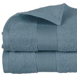 Ręcznik łazienkowy w kolorze granatowym wykonany w 100% z organicznej bawełny - 150 x 100 cm (3560238359747)