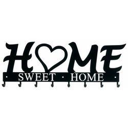 Intesi Wieszak ścienny home sweet home czarny (3909947703487)