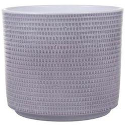 Osłonka doniczki calla cylinder 14 cm szary lazur marki Cermax