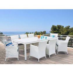 Stół ogrodowy rattanowy 220 cm z 8 rattanowymi krzesłami - ITALY