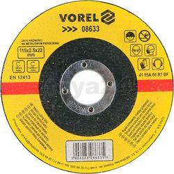 Tarcza do cięcia metalu 115x2,5x22 / 08633 / VOREL - ZYSKAJ RABAT 30 ZŁ
