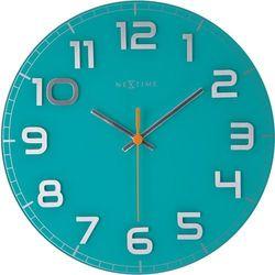 Nextime Okrągły zegar ścienny classy  30 cm, turkusowy