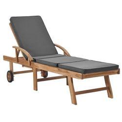 Szary leżak ogrodowy z drewna - Santori