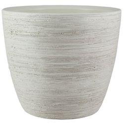 Osłonka doniczki ryflowana 17 cm biały antyczny marki Cermax