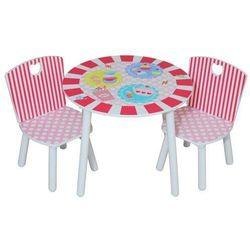 komplet stolik i 2 krzesełka dla dziewczynki z serii patisserie marki Kidsaw