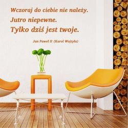 Szablon na ścianę cytat: wczoraj do ciebie nie należy 1937 marki Wally - piękno dekoracji