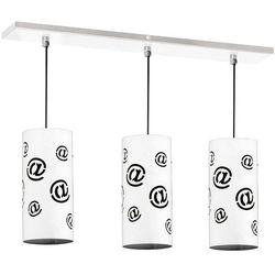 Mail lampa wisząca 3-punktowa biała 703E/ czarna 703E1, 703E