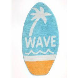 Dywanik łazienkowy w kształcie deski surfingowej bonprix niebieski