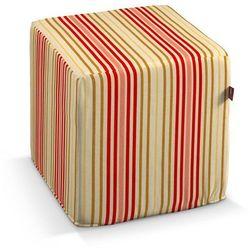 Dekoria  pufa kostka twarda, kolorowe pasy, 40x40x40 cm, londres