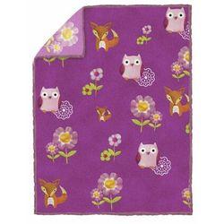 Koc dla dzieci LES AMIS LITTLE OWLS fioletowy 150 x 200 cm (5902340608807)