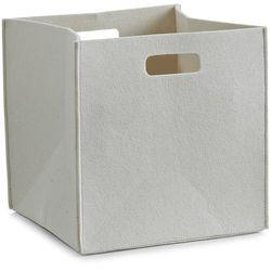 Kosz do przechowywania, kwadratowy, filcowy - pojemnik 33 l, kolor beżowy, ZELLER (4003368143200)