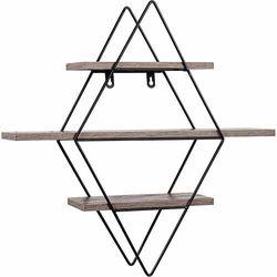 Metalowa półka regał karo wiszący ścienny loft marki Stilista ®