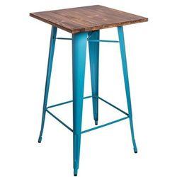 Stół barowy Paris Wood sosna - niebieski