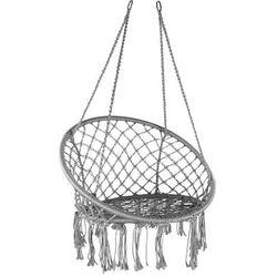Domarex Wiszący fotel-huśtawka Luna szary, 60 x 80 x 120 cm