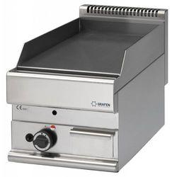 Płyta grillowa gładka gazowa nastolna | 5,7kW | 400x650x(H)280mm