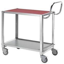 Profesjonalny wózek stołowy, ocynkowany,z 2 piętrami, zwrotny marki Konga mekaniska