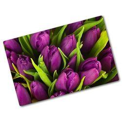Deska do krojenia hartowana Fioletowe tulipany
