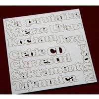 Scrapiniec Zestaw napisów - idealny do cardmaking`u 13,8x13,8