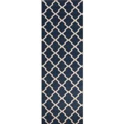 dywan cottage blue/wool 60x180cm, 60×180cm marki Dekoria