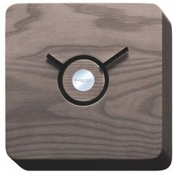 Bugatti Trattoria zegar wykonany w ciemny drewnie 22x22x4 cm ciemne drewno