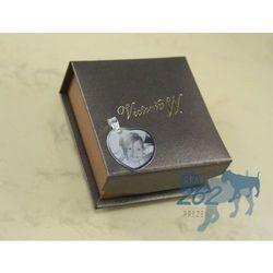 Zawieszka srebro serce 3 grawer zdjecia+etui wyprodukowany przez Victoriaw.