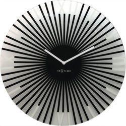 Nextime :: zegar ścienny sticks czarny Ø43cm