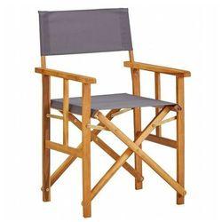 Edinos premium Krzesło reżyserskie składane martin - popielate